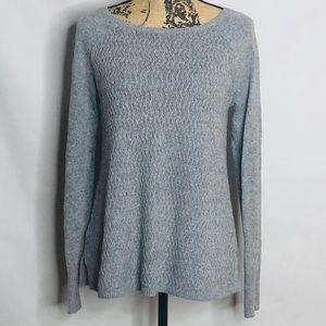 LOFT grey long sleeve sweater size size XS